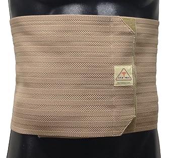 Breathable Elastic Abdominal Binder for Men Size: Small, Color: Beige
