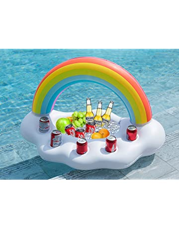 Rainbow Cloud Pool Float With Glitter Inside By Big Mouth Inc New Fashionable And Attractive Packages Pools & Spas