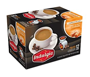 Indulgio Cappuccino, Sweet & Salty Caramel, 12-Count Single Serve Cup