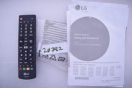 LG 49UH6030 AKB74915305 - Mando a Distancia y Manual de Usuario ...