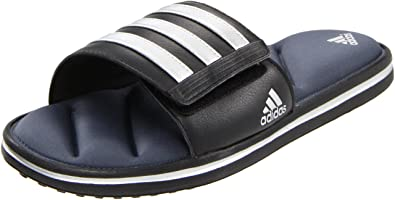 pretty nice 2f7ea 6bce5 adidas Performance Men s Zeitfrei FitFOAM Slide Sandal,Black Metallic  Silver Lead,5