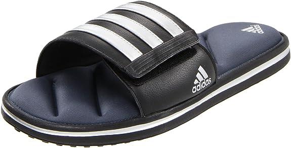 Amazon.com | adidas Performance Men's Zeitfrei FitFOAM Slide Sandal, Black/Metallic  Silver/Lead, 5 D US | Sport Sandals & Slides