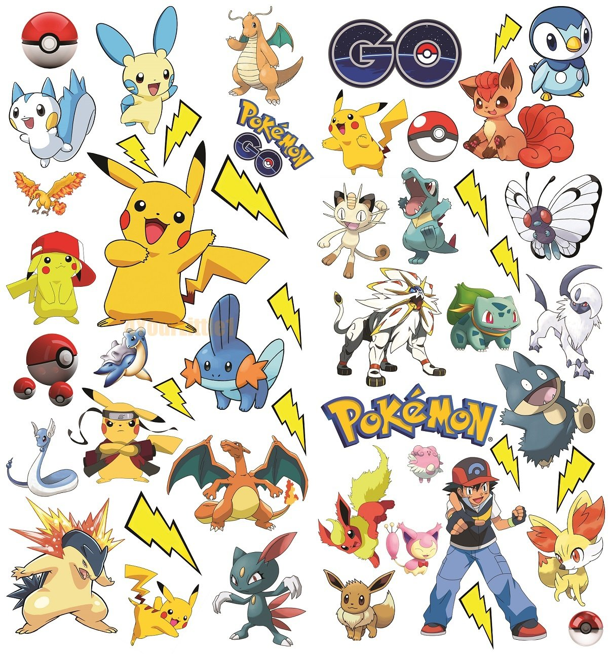 Pokemon Wall Art Stickers for Kids 4YourLittle1