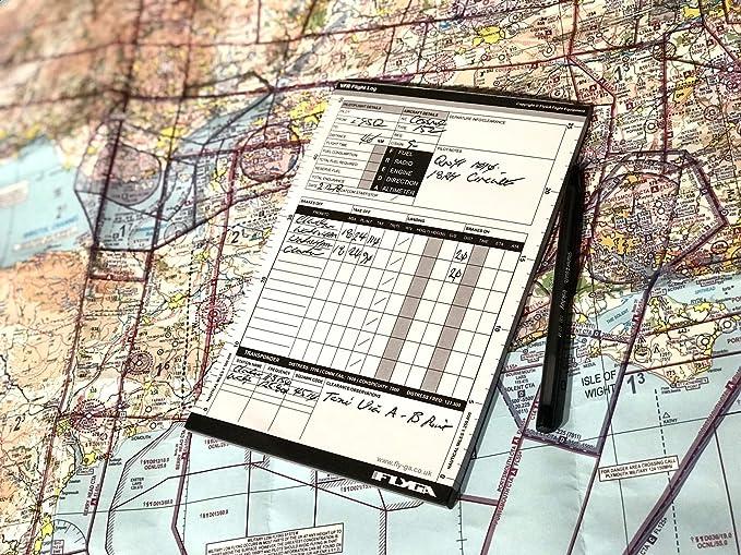 A5 VFR Pilot Log Pad (vuelo Plog libro) [3 unidades] – para PPL ...