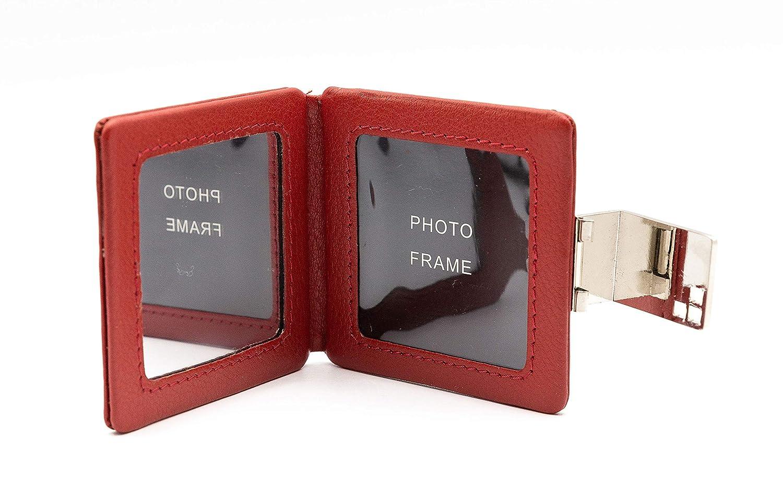 Amazon.com: Espejo compacto con marco de fotos, pequeño y ...