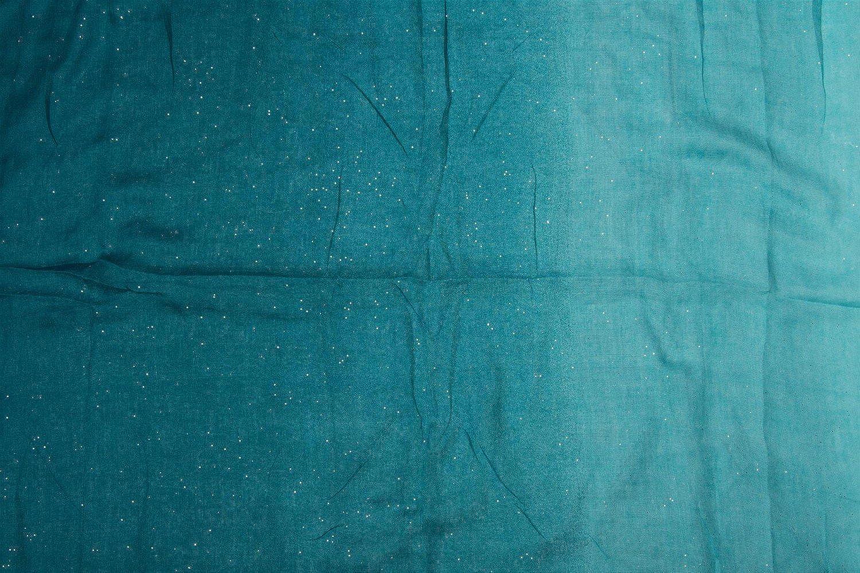 foulard styleBREAKER raffinata sciarpa ad anello glitter con motivo colorato donna 01017033 sciarpa paillettes sciarpa glitter