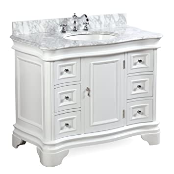 Katherine 42 Inch Bathroom Vanity Carrarawhite Includes White
