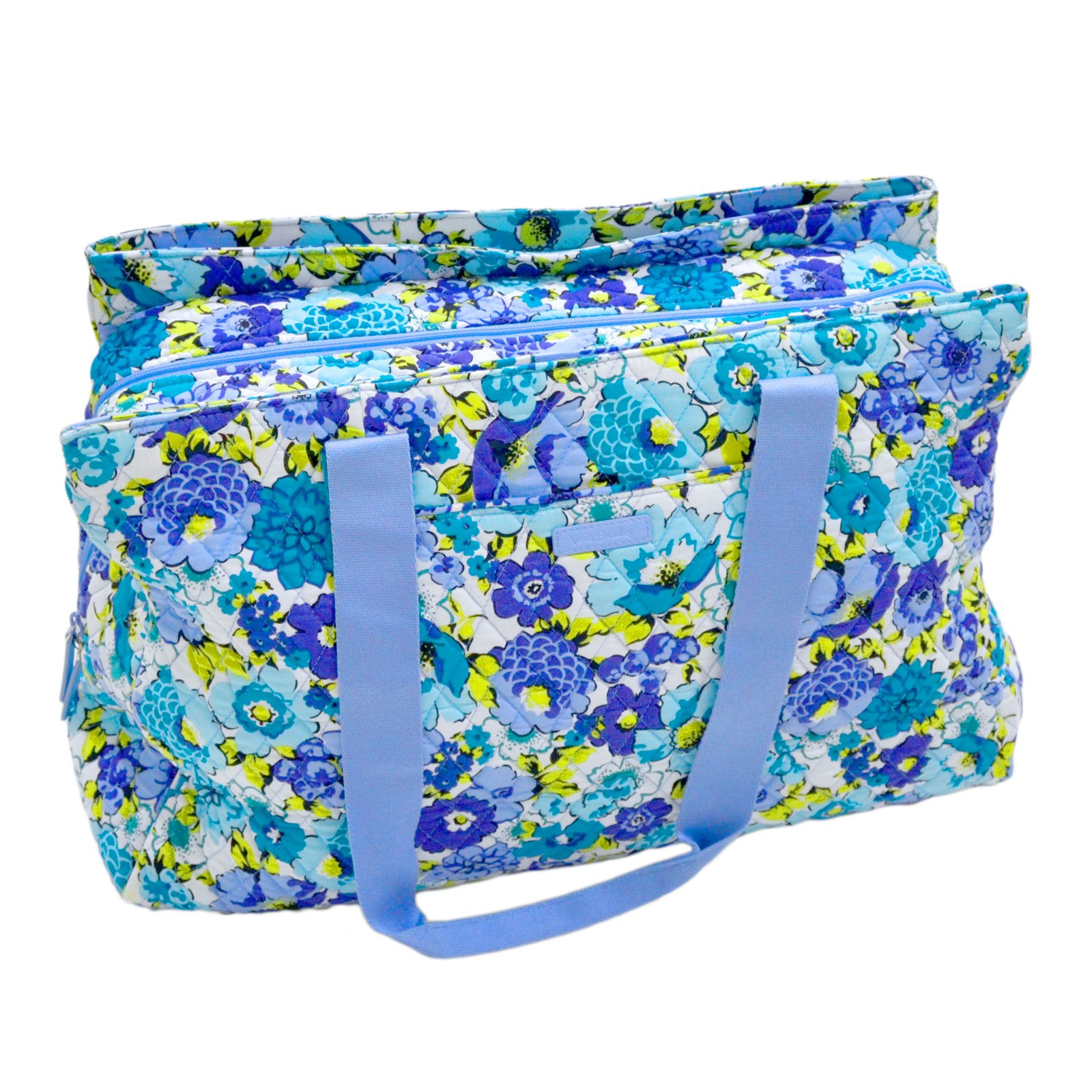 Vera Bradley Triple Compartment Travel Bag (Blueberry Blooms)