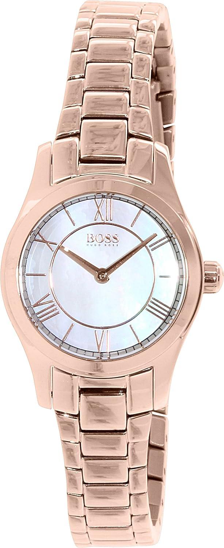 Hugo Boss Reloj analogico para Mujer de Cuarzo con Correa en Acero Inoxidable 1502378: Amazon.es: Relojes