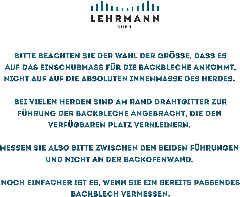 LEHRMANN Lochblech 46,5 x 37,5 cm Backblech Kuchenblech Baguetteblech Pizzablech f/ür Backofen Bosch Neff Siemens