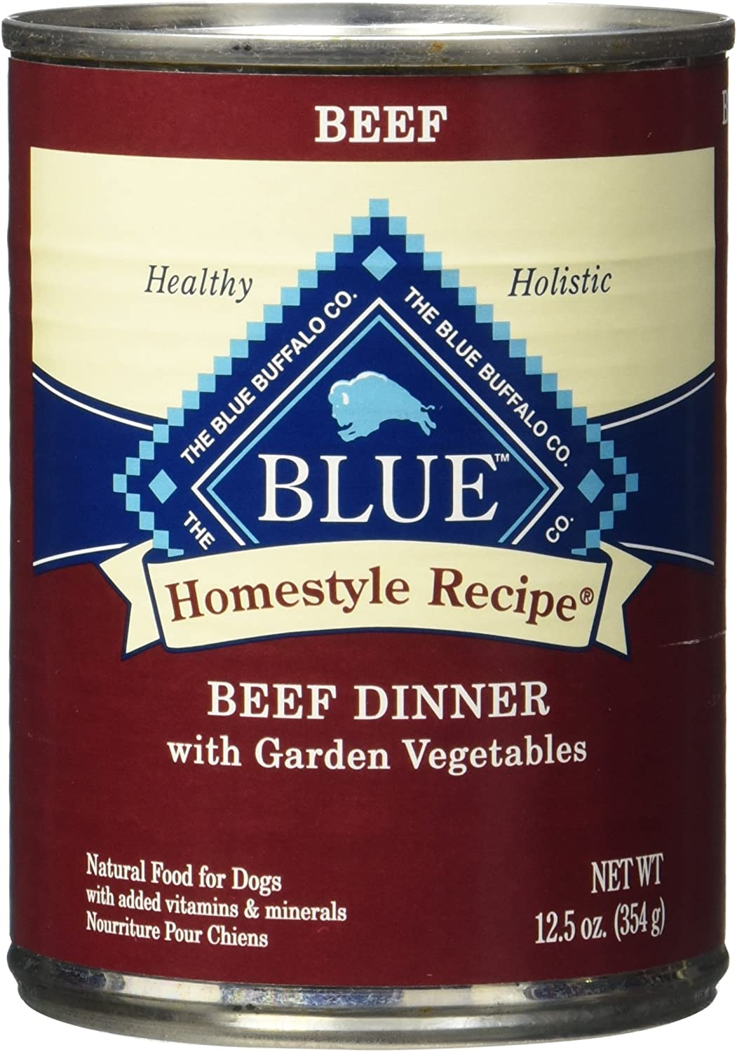 Blue Buffalo Homestyle Recipe Beef Dinner Canned Dog Food, Large, Pack Of 12