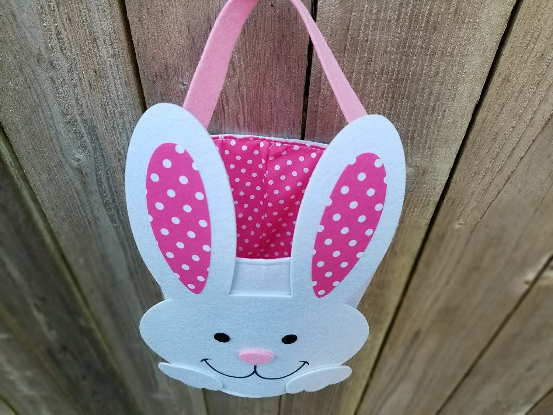 Felt Easter Basket OrangeDolly Bunny Basket Easter Bucket Easter Bunny Basket Bunny Bucket