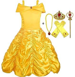 GenialES Scarpe Sandali di Vestito Principessa Ragazze Carnaval ... cdfac93e543