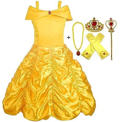 Kostüm Belle Und ZubehörHandschuheDiadem Alead Prinzessin Kleid D29YHWEI
