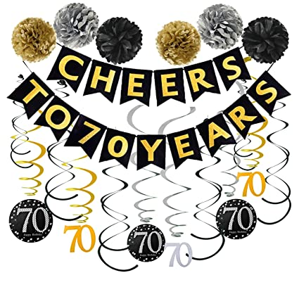 70th Birthday Party Decorations Pack