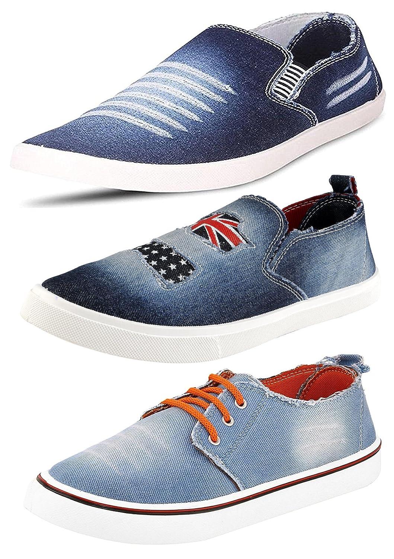 Ethics Top Quality Men's Combo Pack of 3 Denim Loafer...