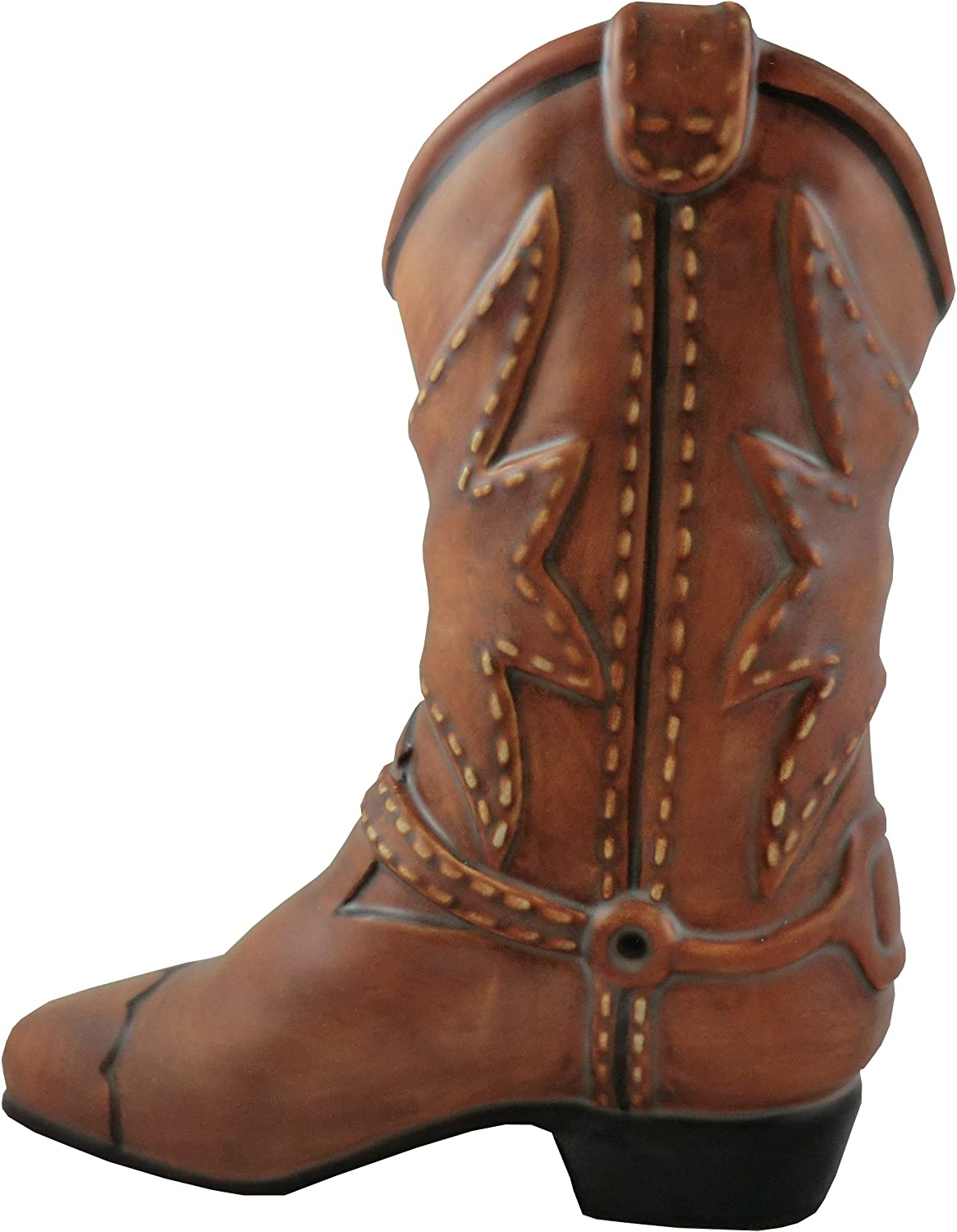 Accents & Occasions Ceramic Cowboy Boot Planter or Flower Arrangement Vase, 6-1/2-Inch