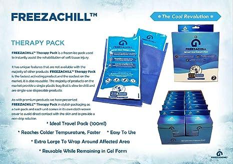 Paquete de terapia de hielo instantáneo FreezaChill - Juego de 2 ...