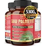 Premium Saw Palmetto Capsules - Equivalent To 5300mg Combined With Ashwagandha, Turmeric, Tribulus, Maca, Green Tea, Ginger,