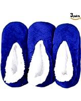 Basico -Valentine's Day Gift - Soft Warm Microfiber Fuzzy Winter Socks Crew 6 Pairs