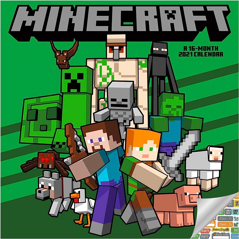 Amazon.: Minecraft Calendar 2021 Bundle   Deluxe 2021