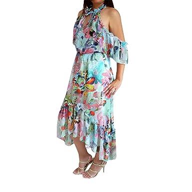 Porcellana 'lou' Claudet Damenkleid Farbinspiration Monet Langes 5AL4Rj3