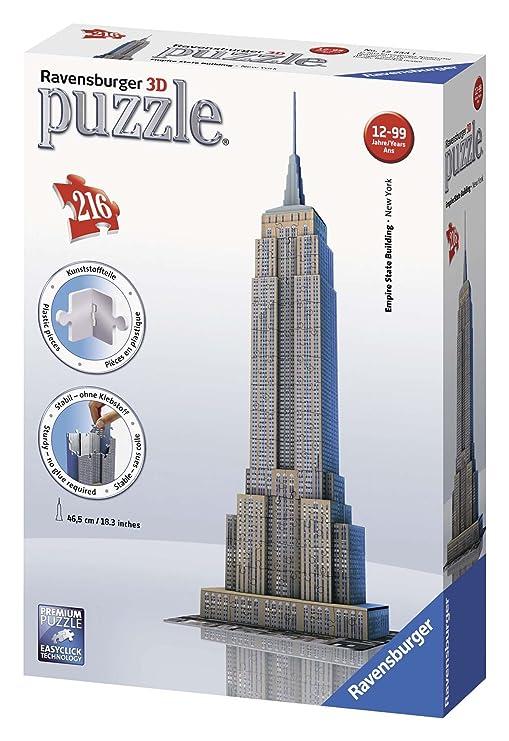 3D Puzzles Ravensburger Empire State Building bei Nacht 3D Puzzle Bauwerke Spielzeug NEU