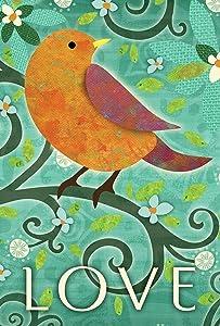 "Toland Home Garden 1110072 Bird of Love 12.5 x 18 Inch Decorative, Garden Flag-12.5"" x18"""