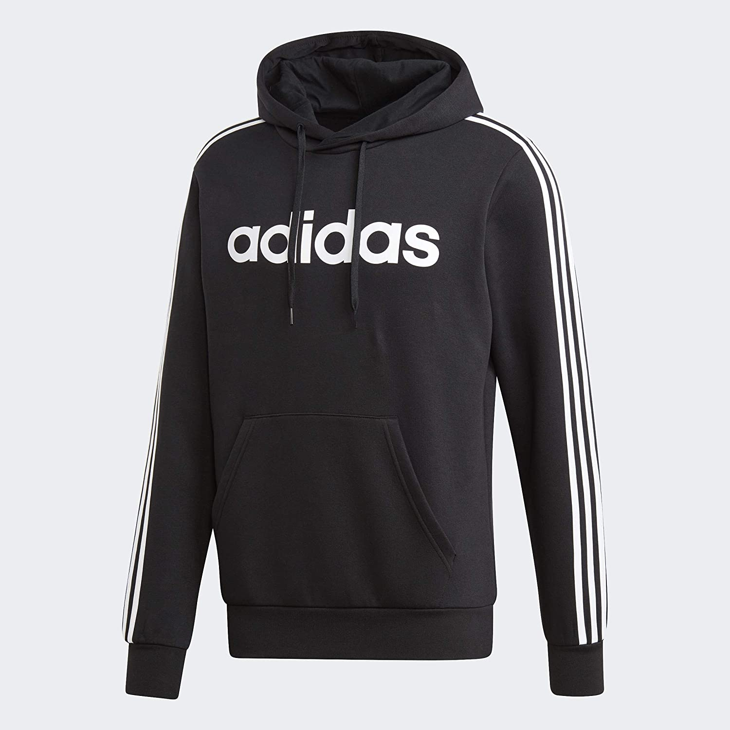 adidas Men's Essentials 3-stripes Pullover Fleece Hooded Sweatshirt