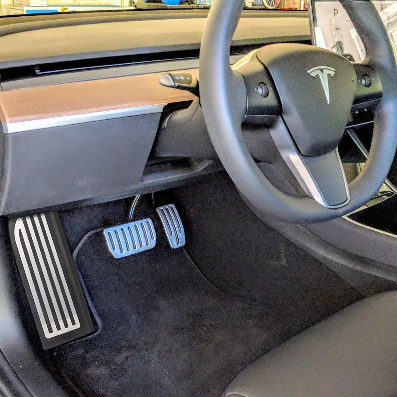 BASENOR Foot Rest Dead Pedal Cover for Tesla Model 3 Gen 2