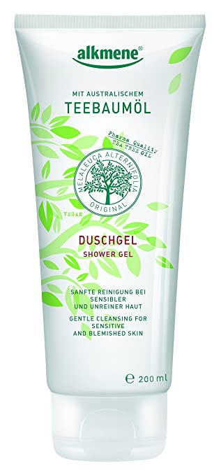 Tea Tree Oil Shower Gel from Germany - Cleanser for Oily Acne & Sensitive Skin Dabo Charcoal Cleansing Foam: Smooth Skin