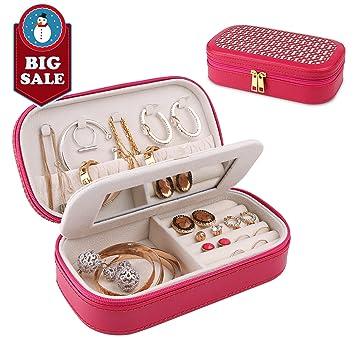 Amazoncom A Comely Travel Jewelry Box Accessories Jewelry Storage