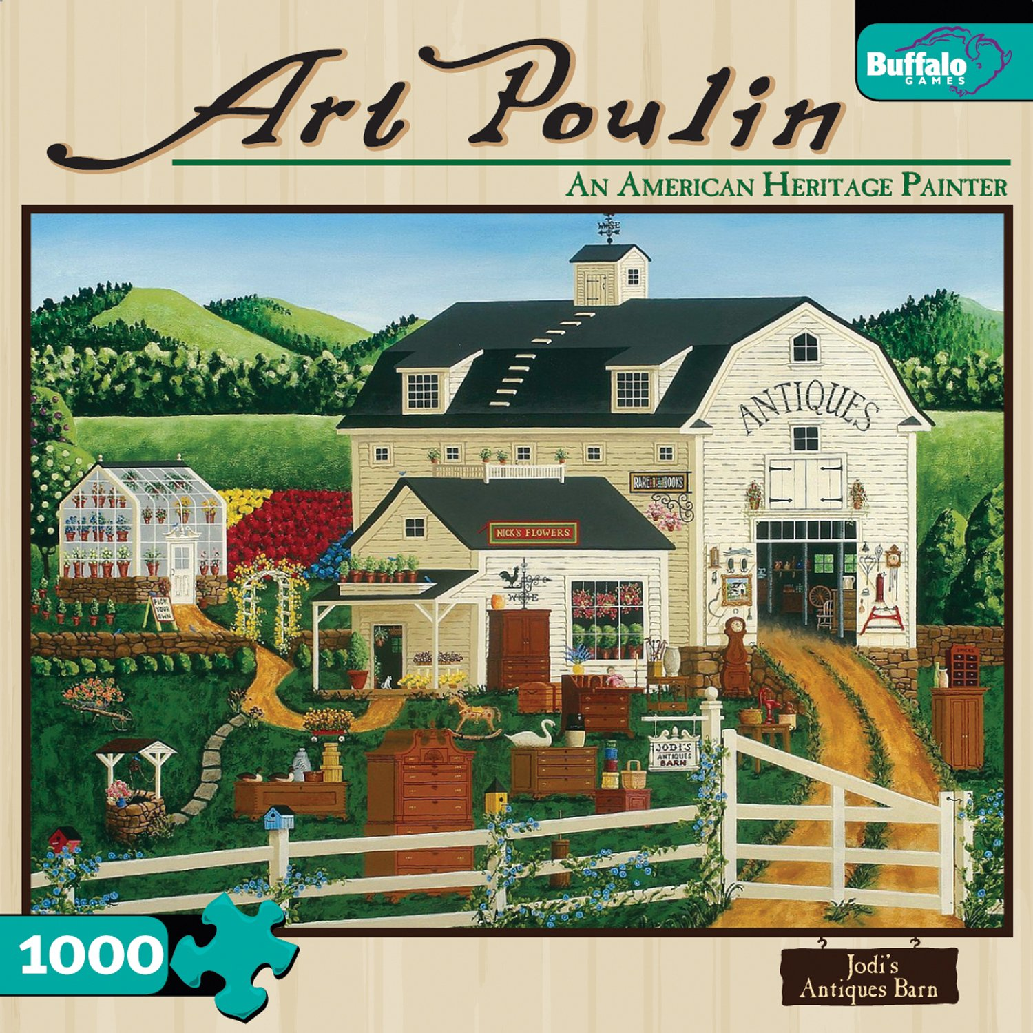 Art Poulin jodi' S Antiken Barn 1000 Piece Jigsaw Puzzle
