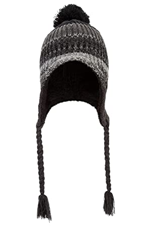 Mountain Warehouse Sherpa Cable Mens Trapper Hat Multi Tonal Cable