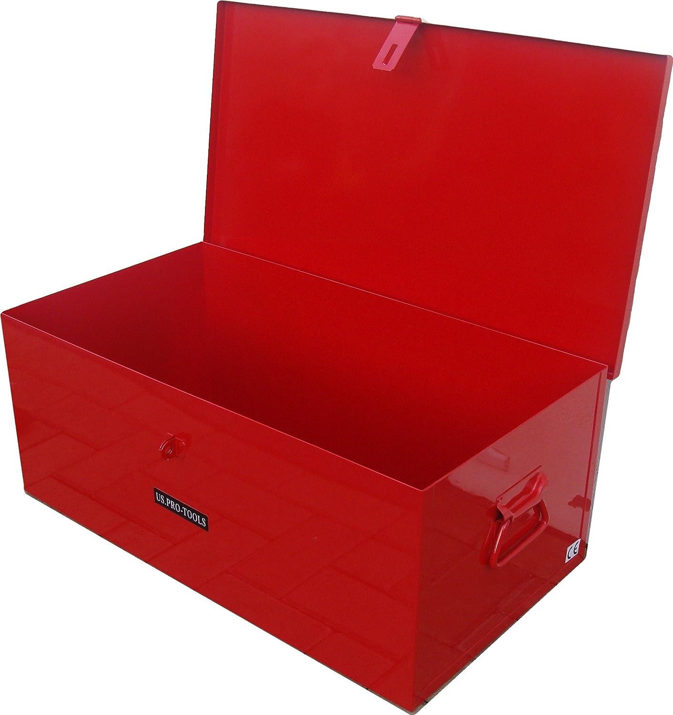 US PRO JOB SITE BOX SAFE CHEST TOOL BOX VAN TRUCK SECURITY STEEL METAL US.PRO-TOOLS