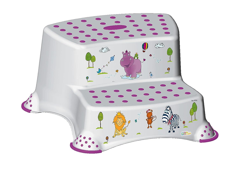 2er Set Z Hippo weiß WC Aufsatz + Hocker zweistufig Toilettentrainer OKT Kids