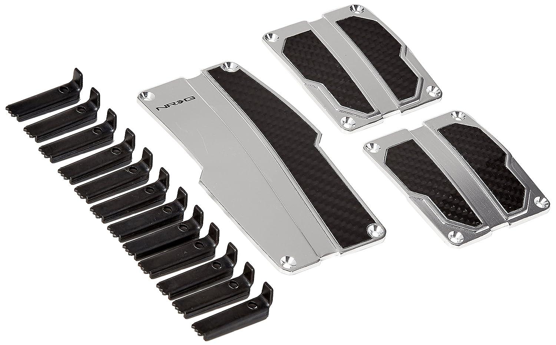 NRG Innovations PDL-100MC Neo Chrome Brushed Aluminum Sport Pedal with Black Carbon MT