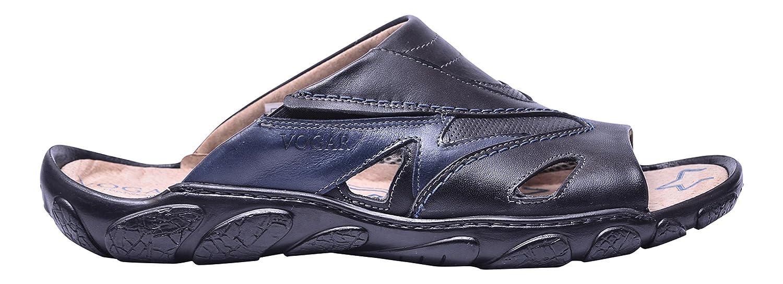 Vogar Sandalias Cuero Hombre Calzado Verano Zapatos Playa VG1125 EU 42 / 28.5 cm Negro