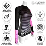 Women's Rash Guard Swim Shirt Long Sleeve