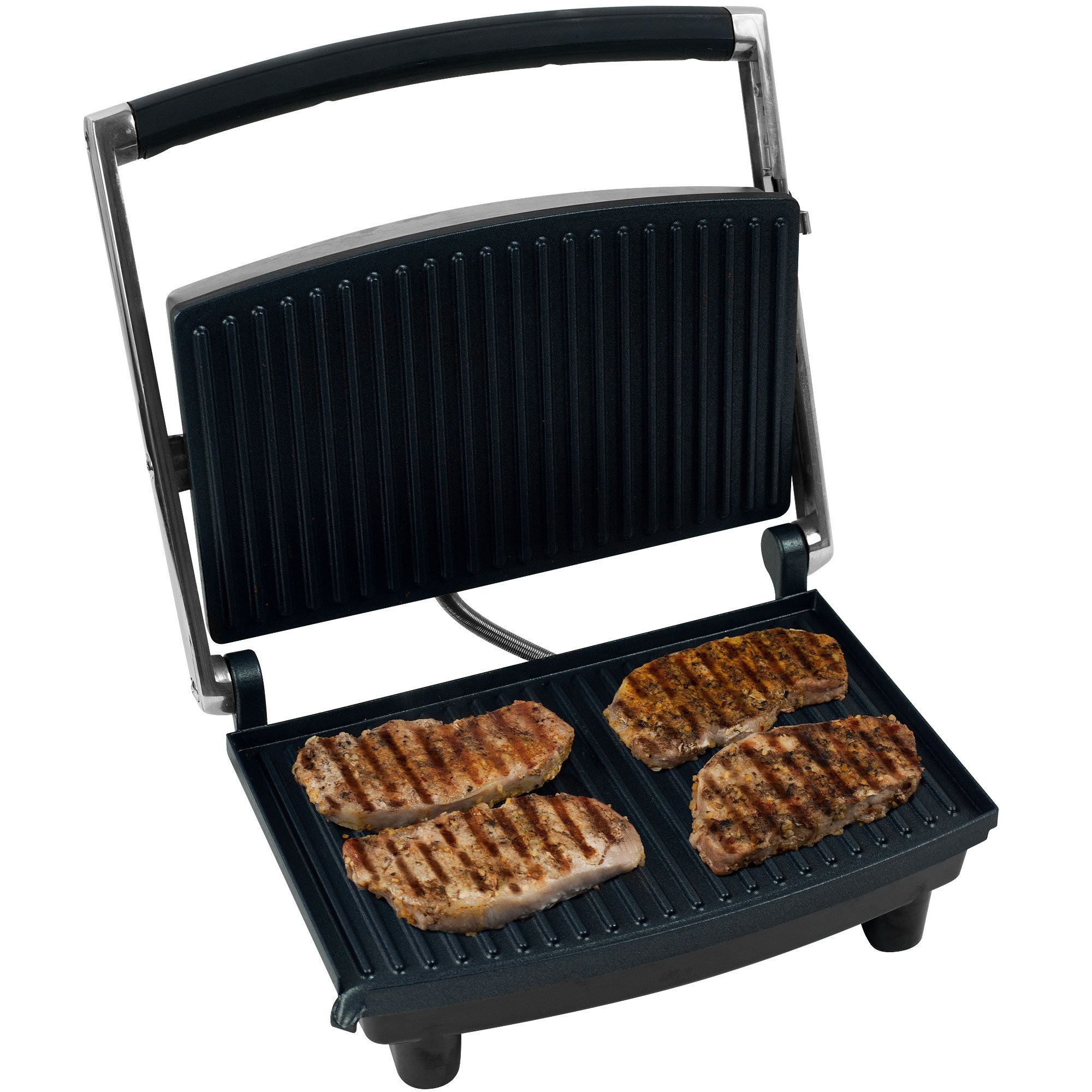 Chef Buddy 80-1840 Panini Press Grill and Gourmet Sandwich Maker for Healthy Cooking by by Chef Buddy