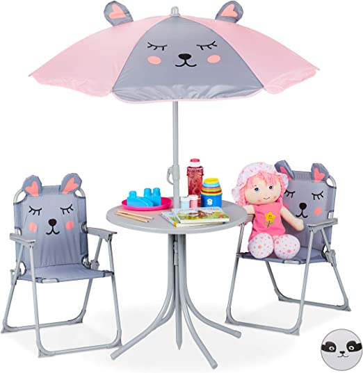 Minnie ensemble de jardin camping enfant (table et 2