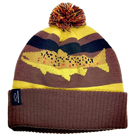 e7305848b102b Image Unavailable. Image not available for. Color  Rep Your Water - Digi  Brown Knit Hat
