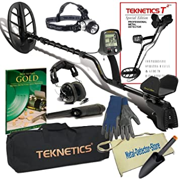 "Teknetics T2 LTD Metal Detector W/11"" Coil PinPointer Carry Bag Plus Accessories"