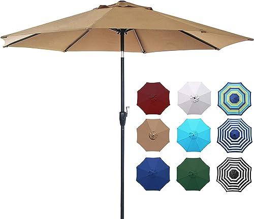 Blissun 9' Outdoor Market Patio Umbrella
