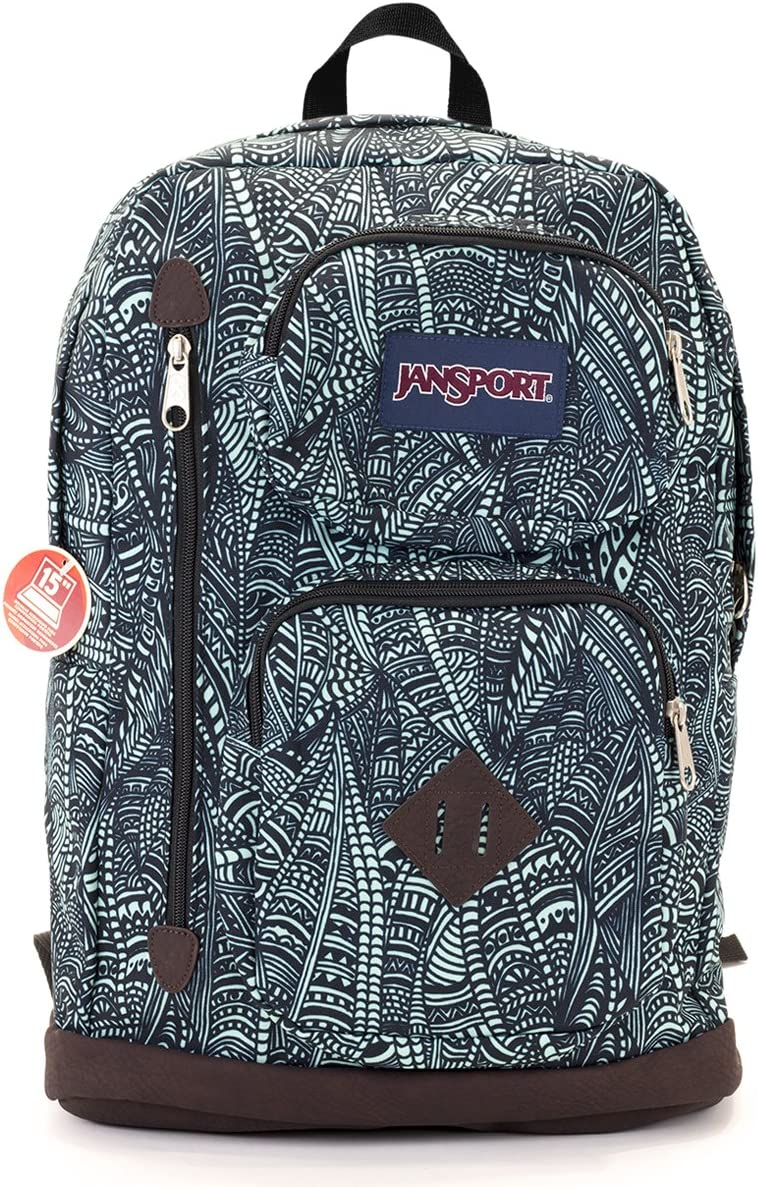 JanSport Austin Backpack (Aqua Dash Scribbles)