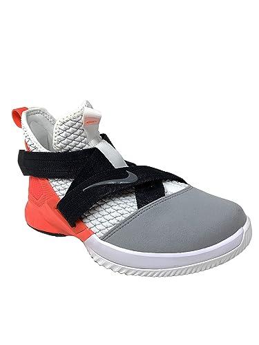 promo code 77da9 47ca9 Nike Kids Lebron Soldier XII SFG (GS) (White/Dark Grey-Flash Crimson, 6.5  Big Kid)