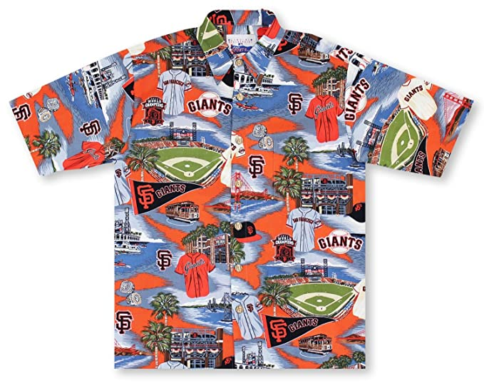 8d033812 Image Unavailable. Image not available for. Colour: Reyn Spooner MLB San  Francisco Giants Aloha Shirt, Scenic Color, Large
