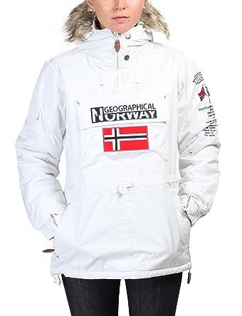 GEOGRAPHICAL NORWAY chaqueta mujer Building blanquecino - mujer - XS: Amazon.es: Ropa y accesorios