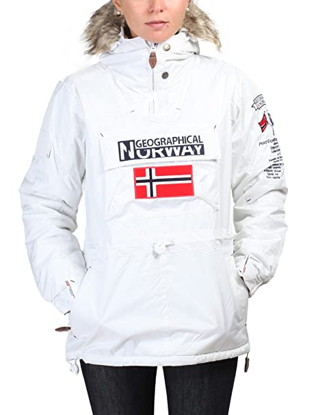 GEOGRAPHICAL NORWAY chaqueta mujer Building blanquecino ...