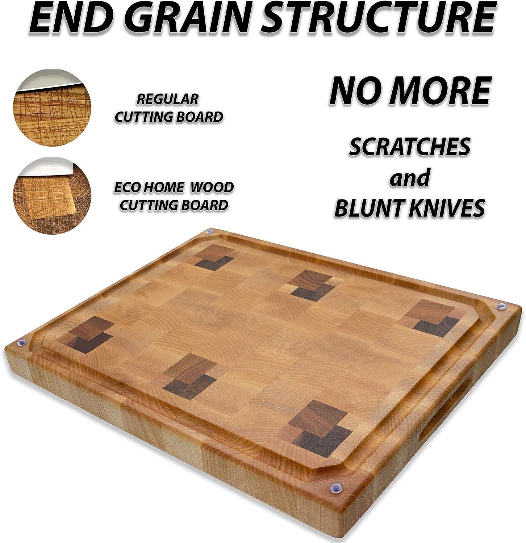 Butcher Block Chopping Block Maple 17 X 11-58 X 1-14 Medium End Grain Cutting Board
